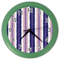 Native American Curly Stripes - 2 Wall Clock (Color)
