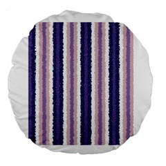 Native American Curly Stripes   2 18  Premium Round Cushion