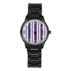Native American Curly Stripes   2 Sport Metal Watch (black)