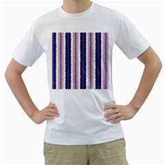 Native American Curly Stripes   2 Men s T Shirt (white)