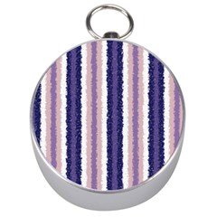 Native American Curly Stripes - 2 Silver Compass