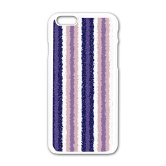 Native American Curly Stripes - 2 Apple iPhone 6 White Enamel Case