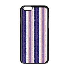 Native American Curly Stripes - 2 Apple iPhone 6 Black Enamel Case