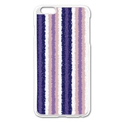Native American Curly Stripes - 2 Apple iPhone 6 Plus Enamel White Case