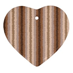 Native American Curly Stripes   3 Heart Ornament