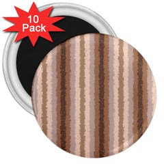 Native American Curly Stripes - 3 3  Button Magnet (10 pack)