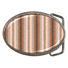 Native American Curly Stripes - 3 Belt Buckle (Oval)