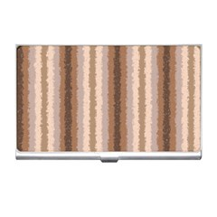 Native American Curly Stripes   3 Business Card Holder