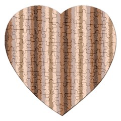 Native American Curly Stripes - 3 Jigsaw Puzzle (Heart)