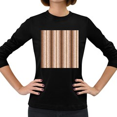 Native American Curly Stripes - 3 Women s Long Sleeve T-shirt (Dark Colored)