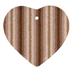 Native American Curly Stripes   3 Heart Ornament (two Sides)