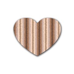 Native American Curly Stripes - 3 Drink Coasters (Heart)