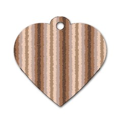 Native American Curly Stripes - 3 Dog Tag Heart (Two Sided)