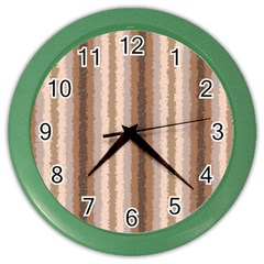 Native American Curly Stripes - 3 Wall Clock (Color)
