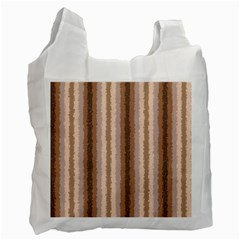 Native American Curly Stripes   3 White Reusable Bag (two Sides)