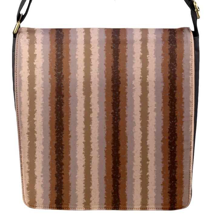 Native American Curly Stripes - 3 Flap Closure Messenger Bag (Small)