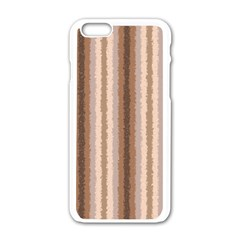 Native American Curly Stripes - 3 Apple iPhone 6 White Enamel Case