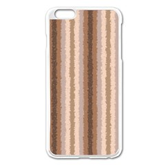 Native American Curly Stripes - 3 Apple iPhone 6 Plus Enamel White Case