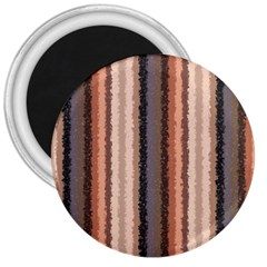 Native American Curly Stripes   4 3  Button Magnet