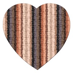 Native American Curly Stripes - 4 Jigsaw Puzzle (Heart)