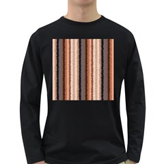 Native American Curly Stripes - 4 Men s Long Sleeve T-shirt (Dark Colored)