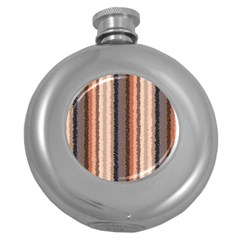 Native American Curly Stripes - 4 Hip Flask (Round)