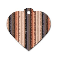 Native American Curly Stripes   4 Dog Tag Heart (one Sided)