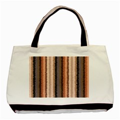 Native American Curly Stripes - 4 Twin-sided Black Tote Bag