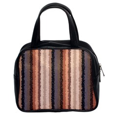 Native American Curly Stripes   4 Classic Handbag (two Sides)