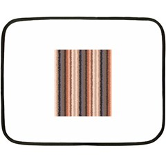 Native American Curly Stripes - 4 Mini Fleece Blanket (Two Sided)