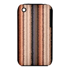 Native American Curly Stripes - 4 Apple iPhone 3G/3GS Hardshell Case (PC+Silicone)