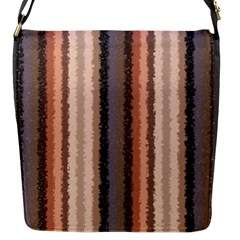 Native American Curly Stripes - 4 Flap Closure Messenger Bag (Small)