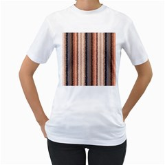 Native American Curly Stripes - 4 Women s T-Shirt (White)