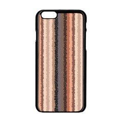 Native American Curly Stripes   4 Apple Iphone 6 Black Enamel Case