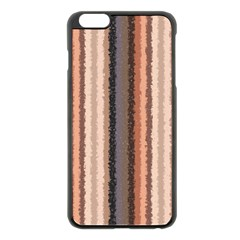 Native American Curly Stripes - 4 Apple iPhone 6 Plus Black Enamel Case