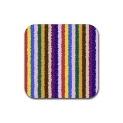 Vivid Colors Curly Stripes   1 Drink Coaster (square)