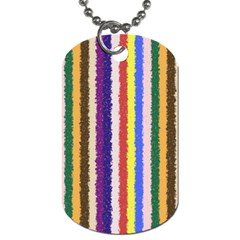 Vivid Colors Curly Stripes   1 Dog Tag (one Sided)