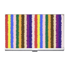 Vivid Colors Curly Stripes - 1 Business Card Holder