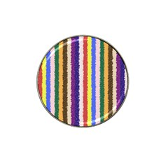 Vivid Colors Curly Stripes - 1 Golf Ball Marker (for Hat Clip)