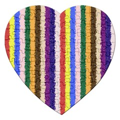 Vivid Colors Curly Stripes   1 Jigsaw Puzzle (heart)