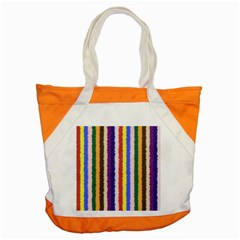 Vivid Colors Curly Stripes - 1 Accent Tote Bag