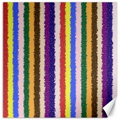 Vivid Colors Curly Stripes - 1 Canvas 12  x 12  (Unframed)
