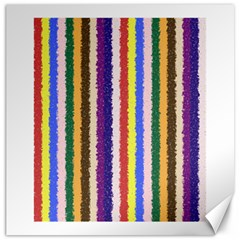 Vivid Colors Curly Stripes   1 Canvas 16  X 16  (unframed)