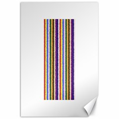 Vivid Colors Curly Stripes - 1 Canvas 20  x 30  (Unframed)