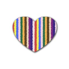 Vivid Colors Curly Stripes - 1 Drink Coasters (Heart)