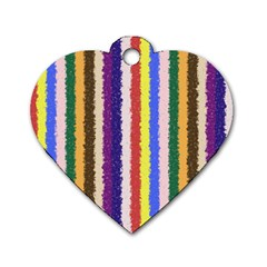 Vivid Colors Curly Stripes   1 Dog Tag Heart (one Sided)