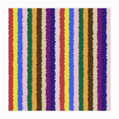 Vivid Colors Curly Stripes - 1 Glasses Cloth (Medium, Two Sided)