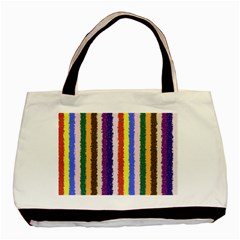 Vivid Colors Curly Stripes - 1 Twin-sided Black Tote Bag