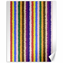 Vivid Colors Curly Stripes - 1 Canvas 11  x 14  (Unframed)