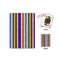 Vivid Colors Curly Stripes   1 Playing Cards (mini)
